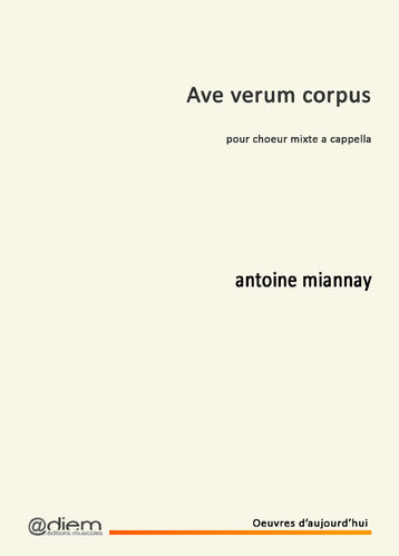 MIANNAY - AVE VERUM - vocal score